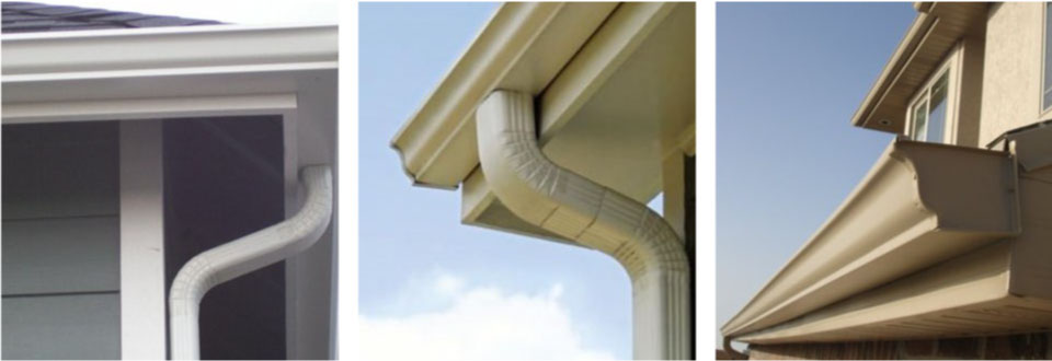 downspouts and gutter